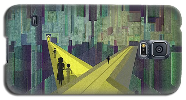 003 - Nightwalking  To A Distant City Galaxy S5 Case by Irmgard Schoendorf Welch