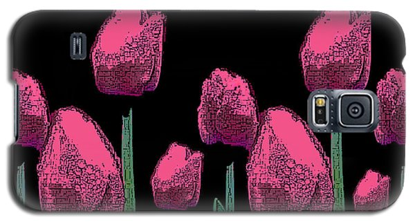 010 Hot Pink Tulips 2a Galaxy S5 Case