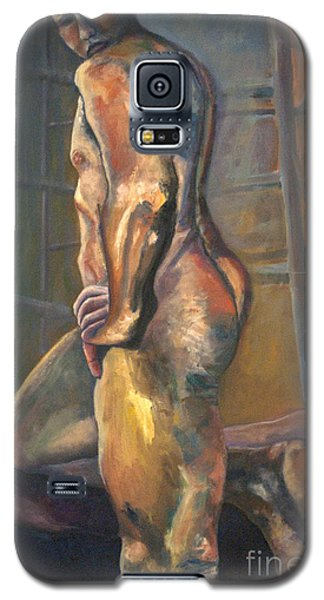 Galaxy S5 Case featuring the painting 01286 I Know by AnneKarin Glass