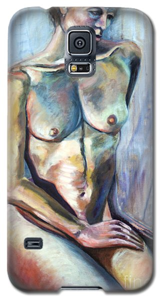 Galaxy S5 Case featuring the painting 01289 Sympathy by AnneKarin Glass