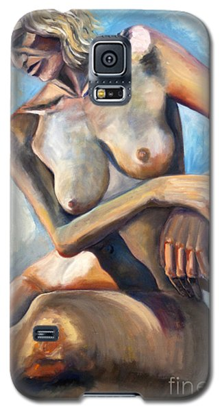 Galaxy S5 Case featuring the painting 01290 Remember by AnneKarin Glass
