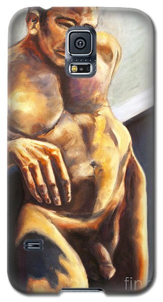 Galaxy S5 Case featuring the painting 01292 What If by AnneKarin Glass