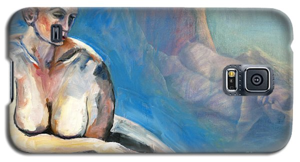Galaxy S5 Case featuring the painting 01293 Memories by AnneKarin Glass