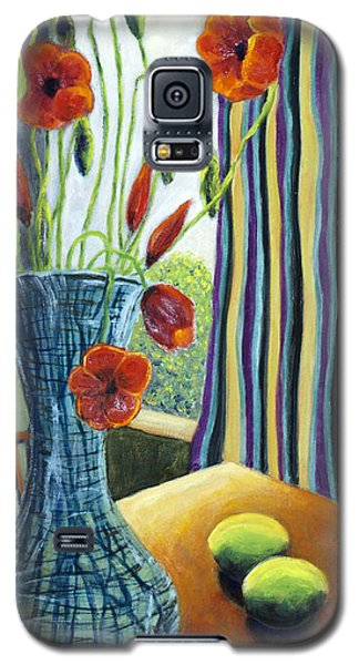 01295 Poppies And Limes Galaxy S5 Case by AnneKarin Glass
