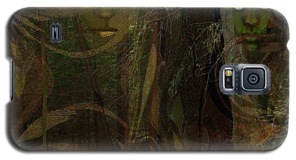 026  - Some Are Forever Sleeping In The Woods Galaxy S5 Case by Irmgard Schoendorf Welch