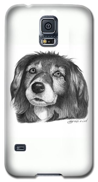 Galaxy S5 Case featuring the drawing 027 - Miss Mindy by Abbey Noelle
