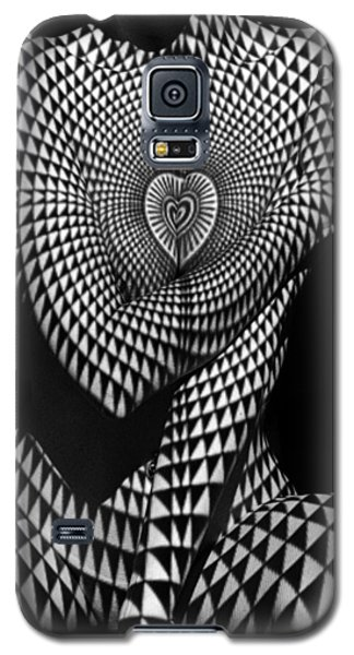 0622 Abstract Art Geometric Female Form  Galaxy S5 Case