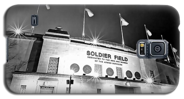 0879 Soldier Field Black And White Galaxy S5 Case