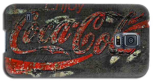 Coca Cola Sign Grungy  Galaxy S5 Case by John Stephens