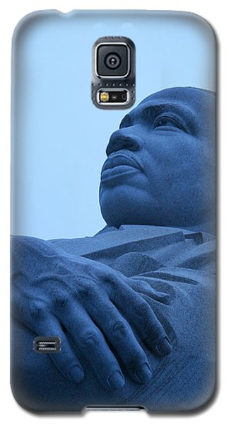 Galaxy S5 Case featuring the photograph A Blue Martin Luther King - 1 by Cora Wandel