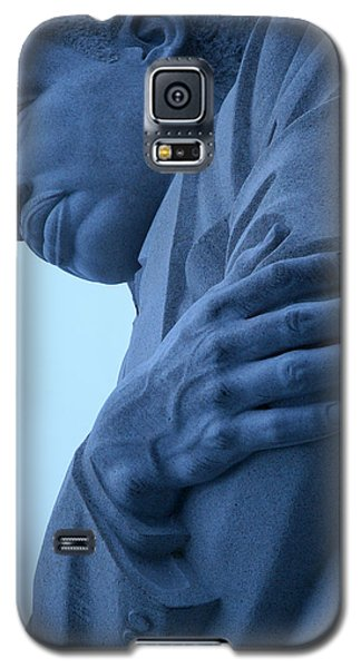 Galaxy S5 Case featuring the photograph A Blue Martin Luther King - 2 by Cora Wandel