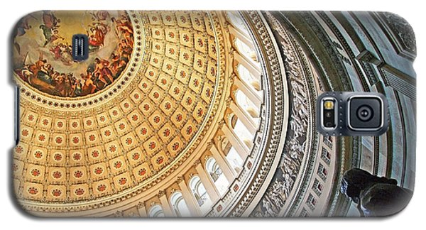 Galaxy S5 Case featuring the photograph A Capitol Rotunda by Cora Wandel