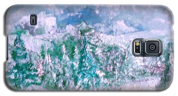 Galaxy S5 Case featuring the painting A Natural Christmas by Laurie L
