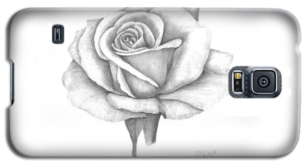 Galaxy S5 Case featuring the drawing A Roses Beauty by Patricia Hiltz