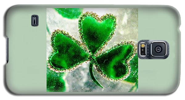 A Shamrock On Ice Galaxy S5 Case by Angela Davies
