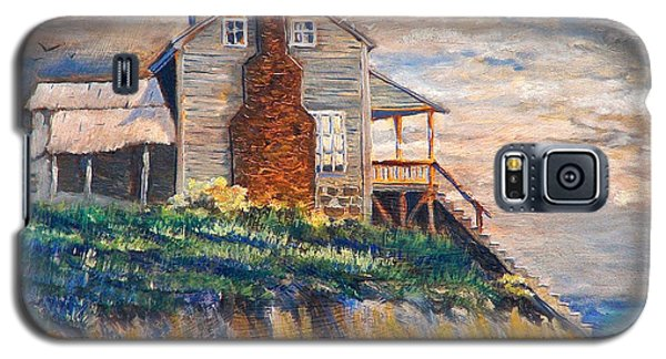 Galaxy S5 Case featuring the painting Abandoned Beach House by Dan Redmon