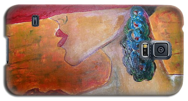 Galaxy S5 Case featuring the painting Abby Marion by Iris Gelbart