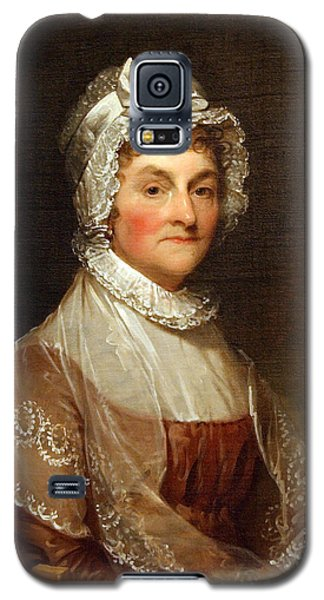 Galaxy S5 Case featuring the photograph Abigail Smith Adams By Gilbert Stuart by Cora Wandel