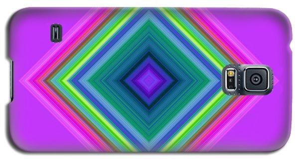 Galaxy S5 Case featuring the digital art Abstract Diamond by Karen Nicholson