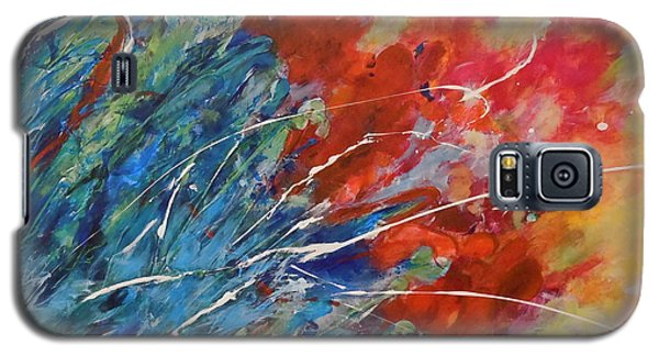 Galaxy S5 Case featuring the painting Abstract by Ellen Anthony