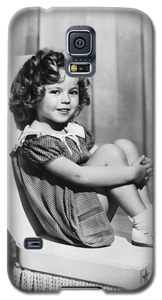 Shirley Temple Galaxy S5 Case - Actress Shirley Temple by Underwood Archives
