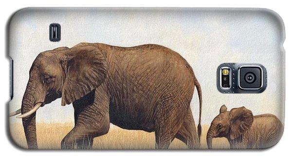 African Elephants Galaxy S5 Case