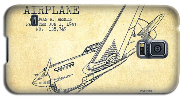 Airplane Galaxy S5 Case - Airplane Patent Drawing From 1943-vintage by Aged Pixel