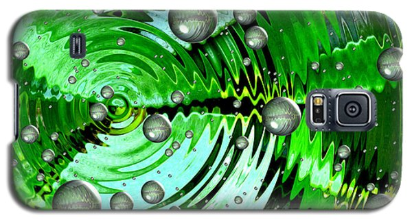 Amazing. Abstract Art. Green Grey  Blue Yellow  Galaxy S5 Case