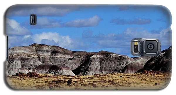Galaxy S5 Case featuring the photograph Amber Waves Of Grain And Purple Mountains by Nadalyn Larsen