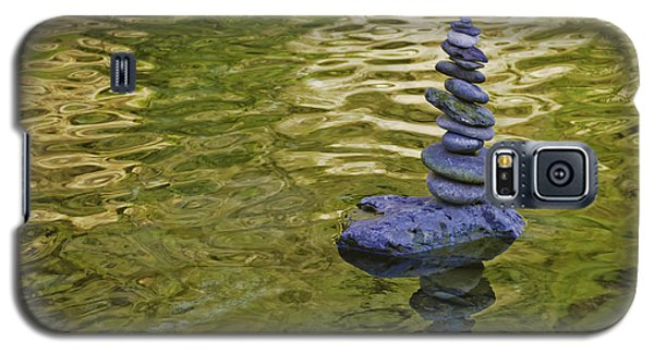 Galaxy S5 Case featuring the photograph American River Rock Art by Sherri Meyer