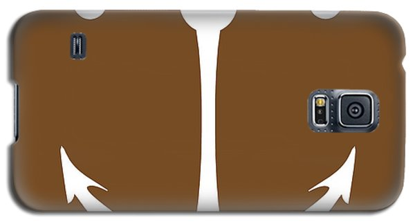 Anchor In Brown And White Galaxy S5 Case
