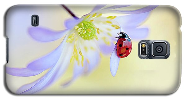 Ladybug Galaxy S5 Case - Anemone Lady by Jacky Parker