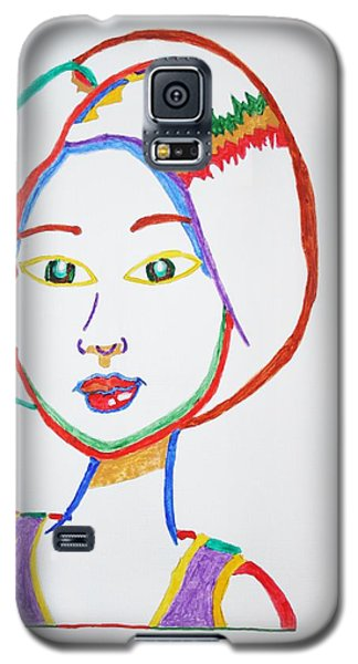 Galaxy S5 Case featuring the painting Anime Asian Girl by Stormm Bradshaw