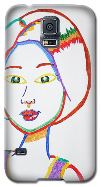 Anime Asian Girl Galaxy S5 Case by Stormm Bradshaw