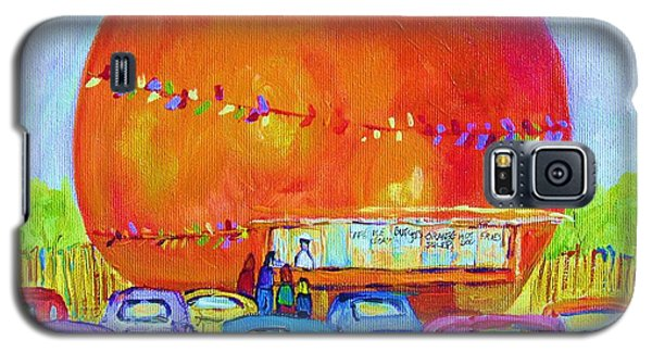 Galaxy S5 Case featuring the painting Antique Cars At The Julep by Carole Spandau