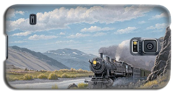 Train Galaxy S5 Case - At Point Of Rocks-bound For Livingston by Paul Krapf