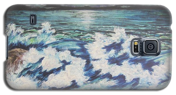 Galaxy S5 Case featuring the painting At The Edge by Cheryl Pettigrew