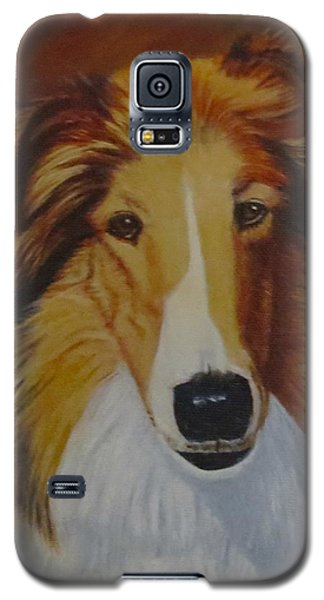 Galaxy S5 Case featuring the painting Atticus by Sharon Schultz