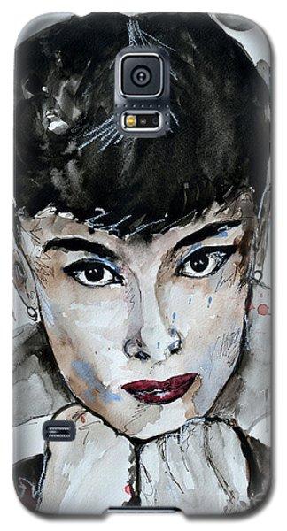 Audrey Hepburn - Abstract Art Galaxy S5 Case by Ismeta Gruenwald