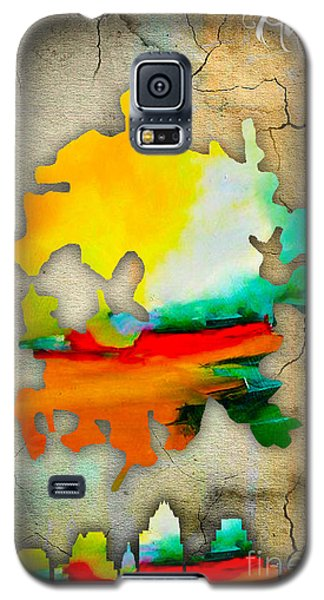 Austin Map And Skyline Watercolor Galaxy S5 Case