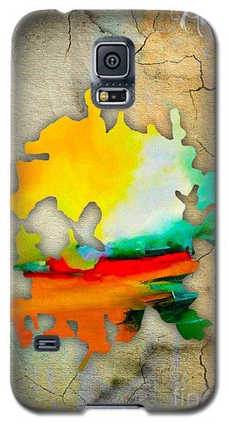 Austin Map Watercolor Galaxy S5 Case