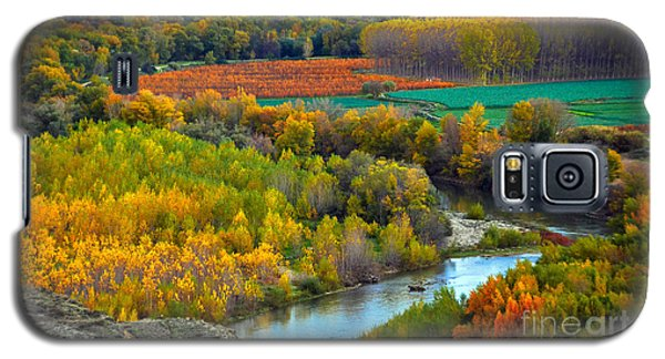 Autumn Colors On The Ebro River Galaxy S5 Case