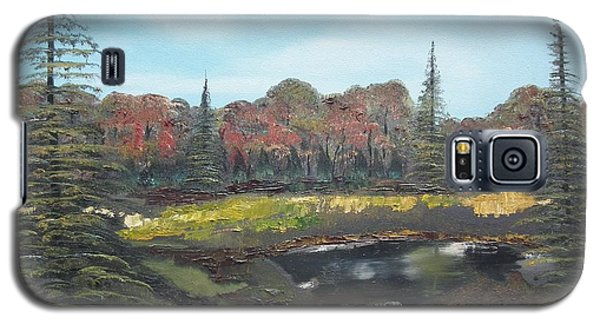 Galaxy S5 Case featuring the painting Autumn Landscape by Jan Dappen