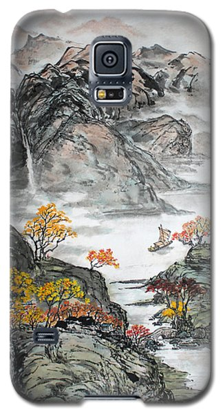 Galaxy S5 Case featuring the painting Autumn  by Yufeng Wang