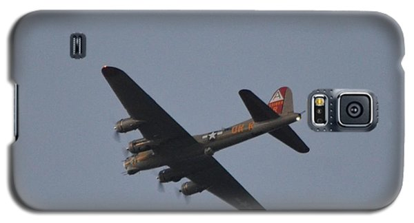 Galaxy S5 Case featuring the photograph B-17 Flying Fortress Wwii Bomber Over Santa Rosa Sound At Twilight by Jeff at JSJ Photography