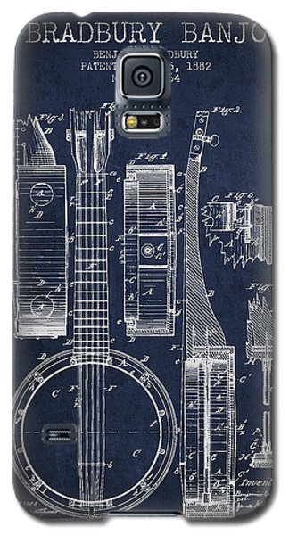 Banjo Patent Drawing From 1882 - Blue Galaxy S5 Case