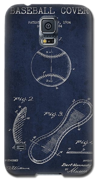 Baseball Cover Patent Drawing From 1924 Galaxy S5 Case