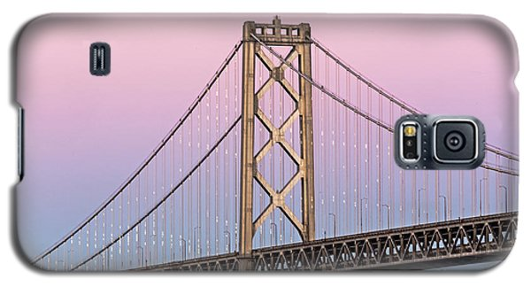 Bay Bridge Lights At Sunset Galaxy S5 Case