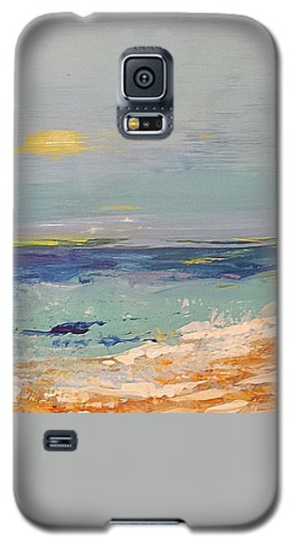 Galaxy S5 Case featuring the painting Beach by Diana Bursztein