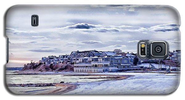 Galaxy S5 Case featuring the photograph Beach In Winter Photo Art by Constantine Gregory